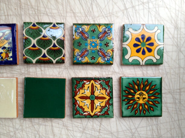 Green talavera tiles