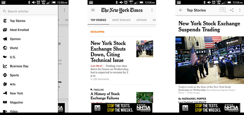 new york times material design