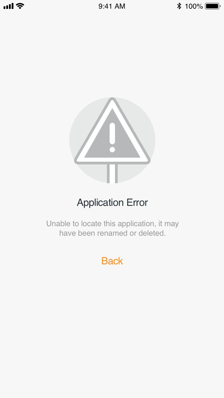 error - application error